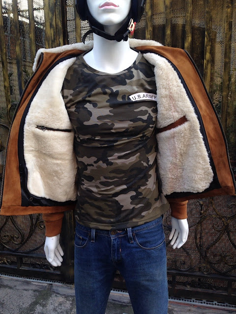 áo khoác da cừu nam lót lông cừu cao cấp thời trang hiện đại xịn đẹp