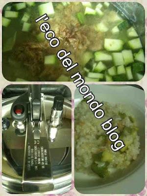 risotto tonno e zucchine in pentola a pressione