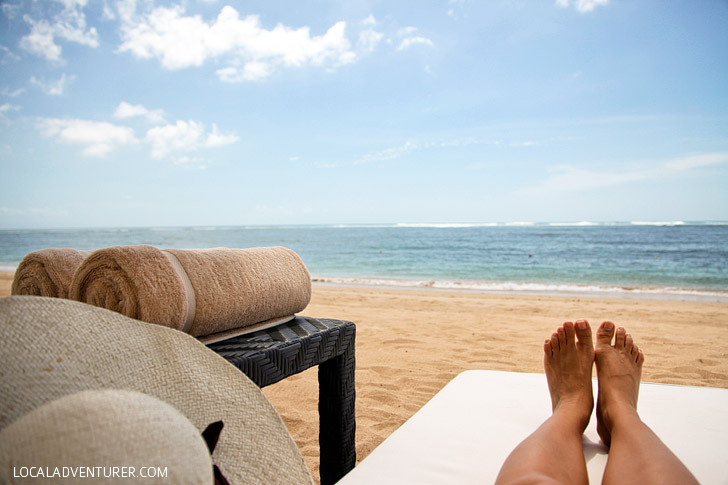 Private Nusa Dua Beach at the St. Regis Hotel.