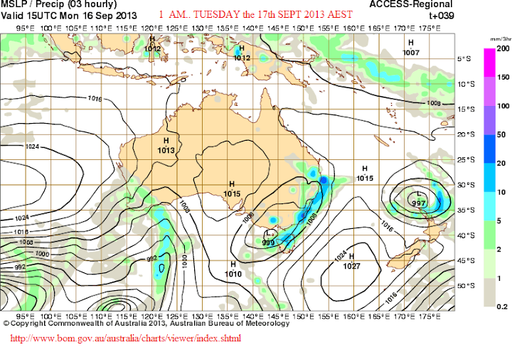 1th sept 1am rain in NSW coast
