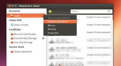 Ubuntu - password e chiavi