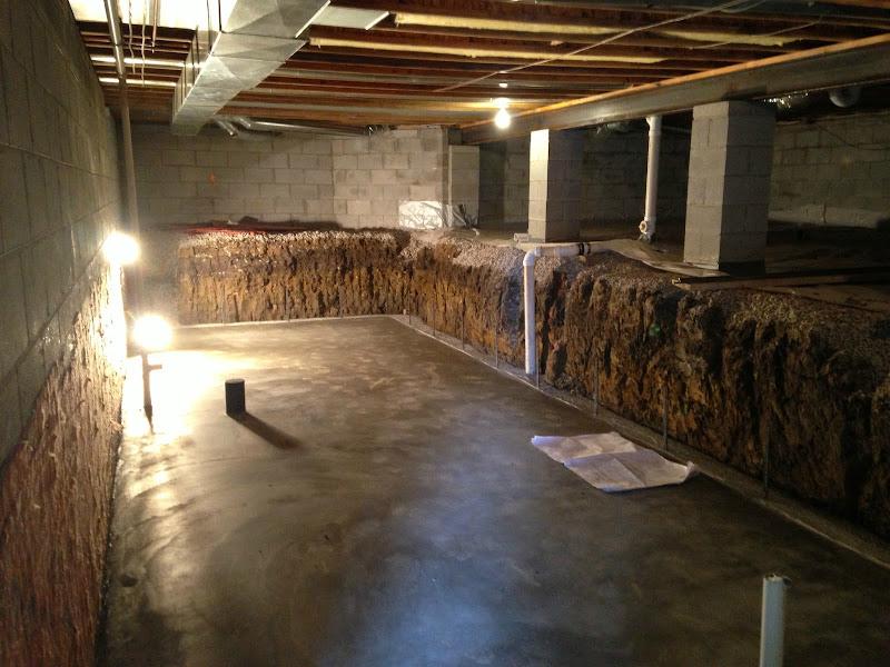 concrete crawl space floor