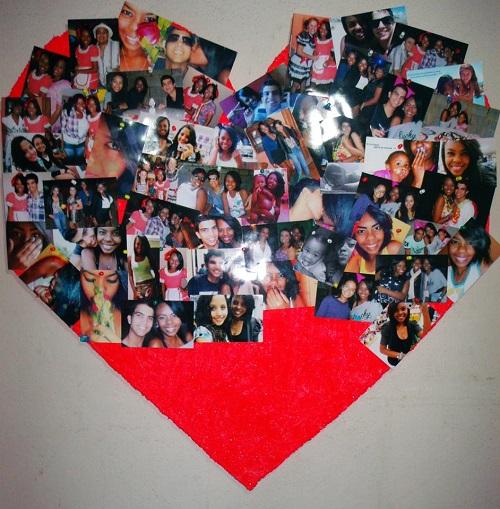 diy mural de coração