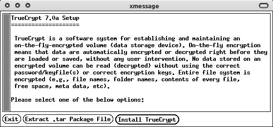 Wizard instalasi TrueCrypt