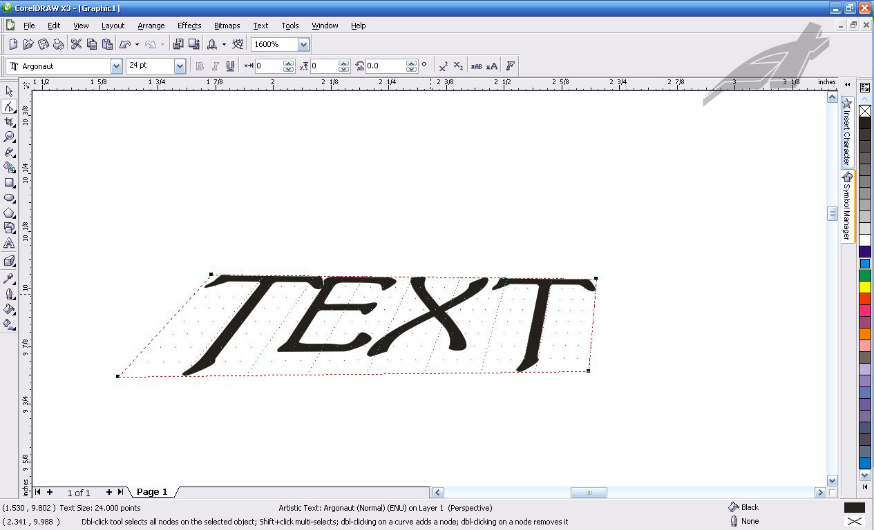 how to create 3d text effect in coreldraw