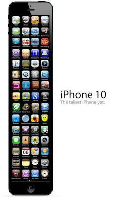 New iPhone 10. The tallest iPhone yet. Novo iPhone 10. O iPhone mais comprido de sempre.