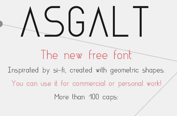 Asgalt Free Fonts