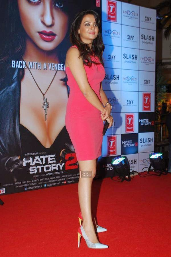 Surveen Chawla during the promotion of Bollywood movie Hate Story 2, held in Mumbai, on July 12, 2014. (Pic: Viral Bhayani)