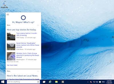Windows 10 - January Technical Preview - Cortana