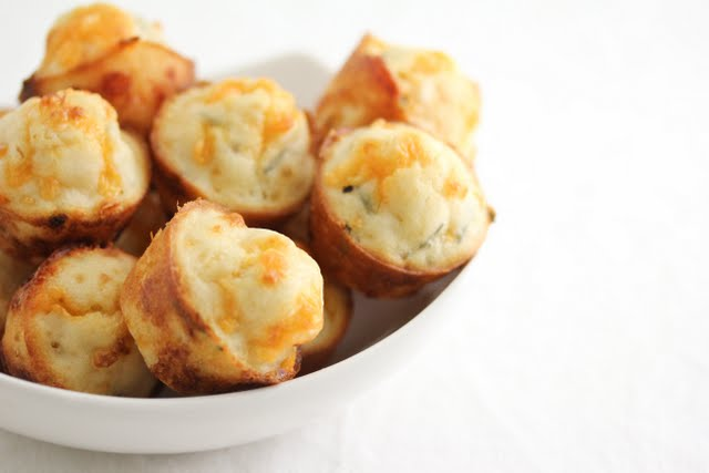 close-up photo of a bowl of Bacon Chive Puffs