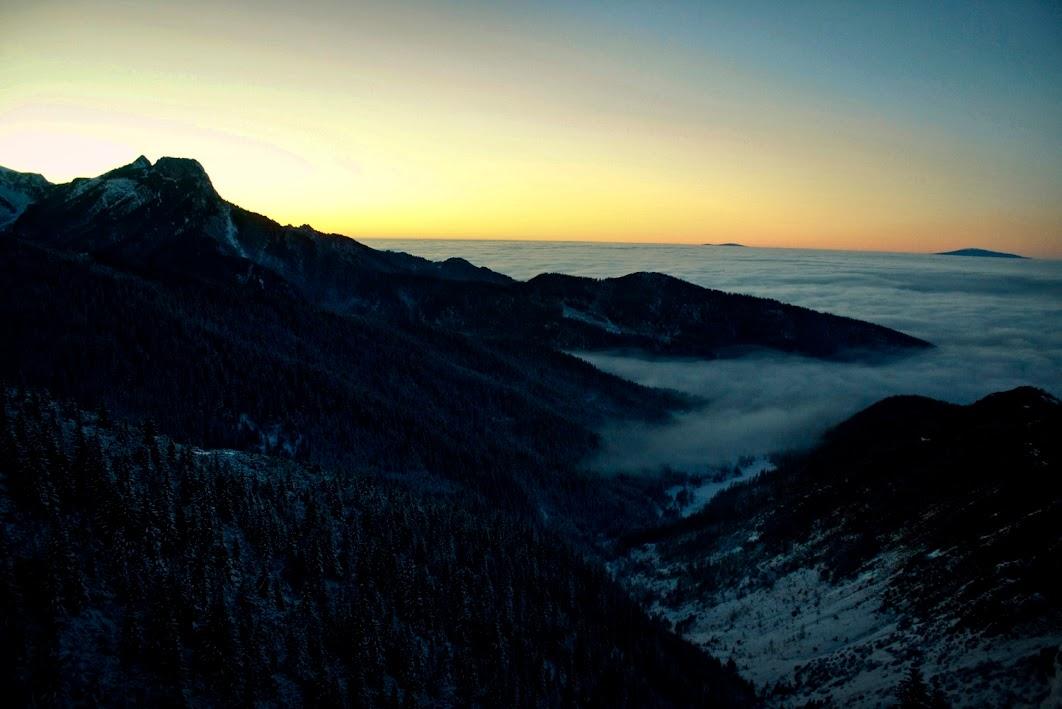 Dolina Jaworzynka - zachód słońca