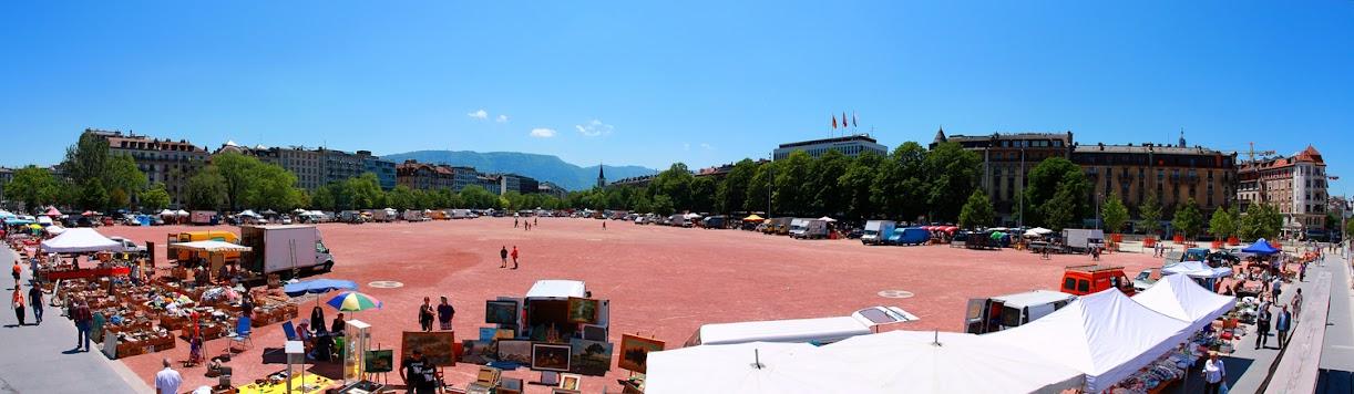 Блошиный рынок в Женеве