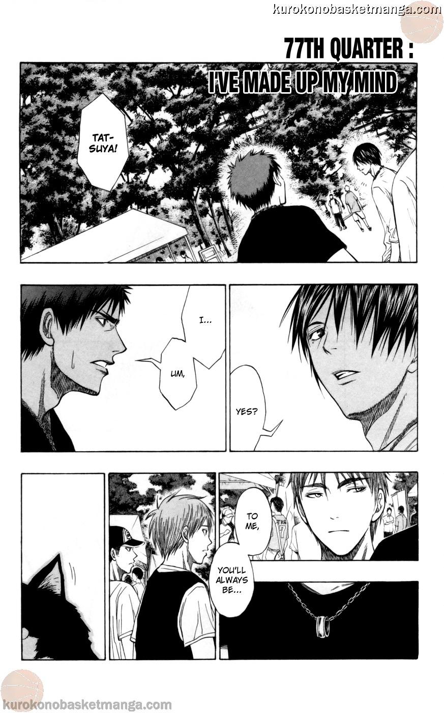 Kuroko no Basket Manga Chapter 77 - Image 01