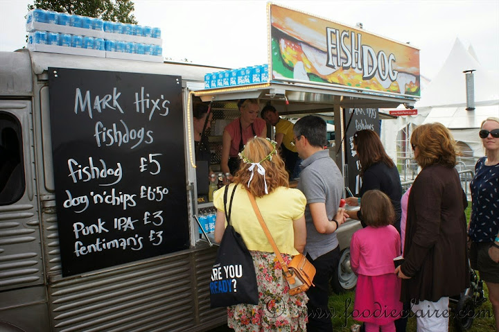 mark hix's fishdogs stand at feastival 2012