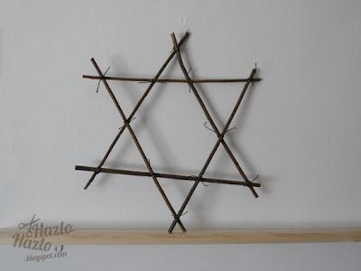 Estrella de ramas hecha a mano.