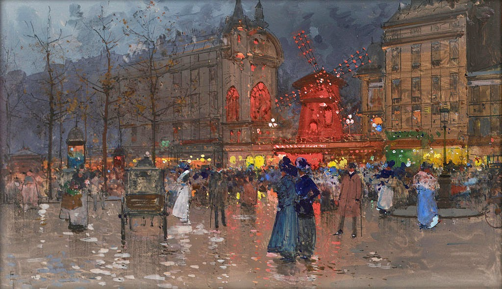 Eugène Galien-Laloue - The Moulin Rouge evening