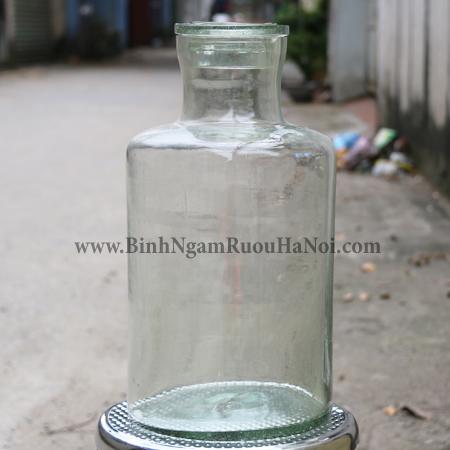 Binh thuy tinh Viet Nam 10 lit nap day