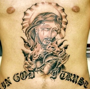 Christian Tattoo Design on Chest