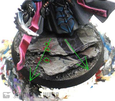 Warhammer 40k painting blood splatter effects