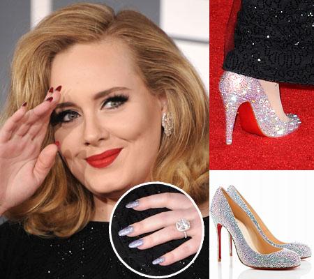 Adele e sua homenagem á Christian Louboutin