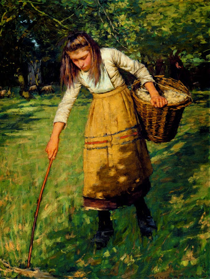 Henry Herbert La Thangue - Gathering wool