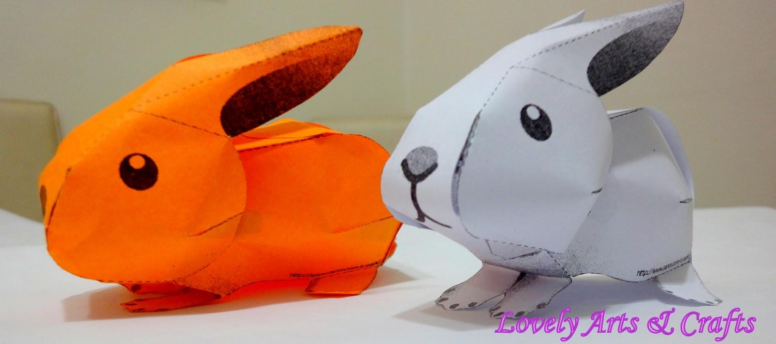 Lovely Arts Amp Crafts V 3 Paper Bunny
