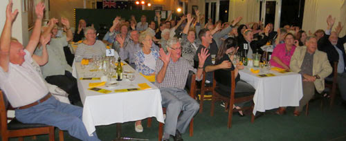 The audience at our show in March 2014, caught the Goon-wave... photo of the audience at The Warrawee Bowling Club and Conference Centre