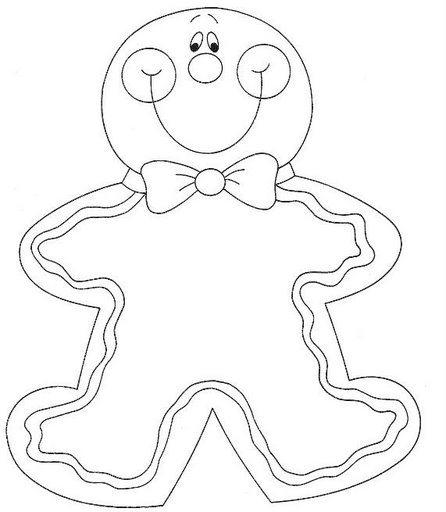 Christmas cookies coloring pages