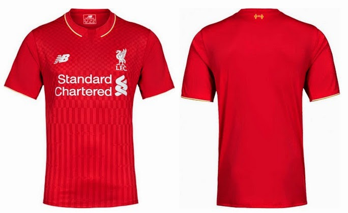 new concept f8fdb aafc1 New Liverpool 2015-16 Home, Away Third Kits (Released)