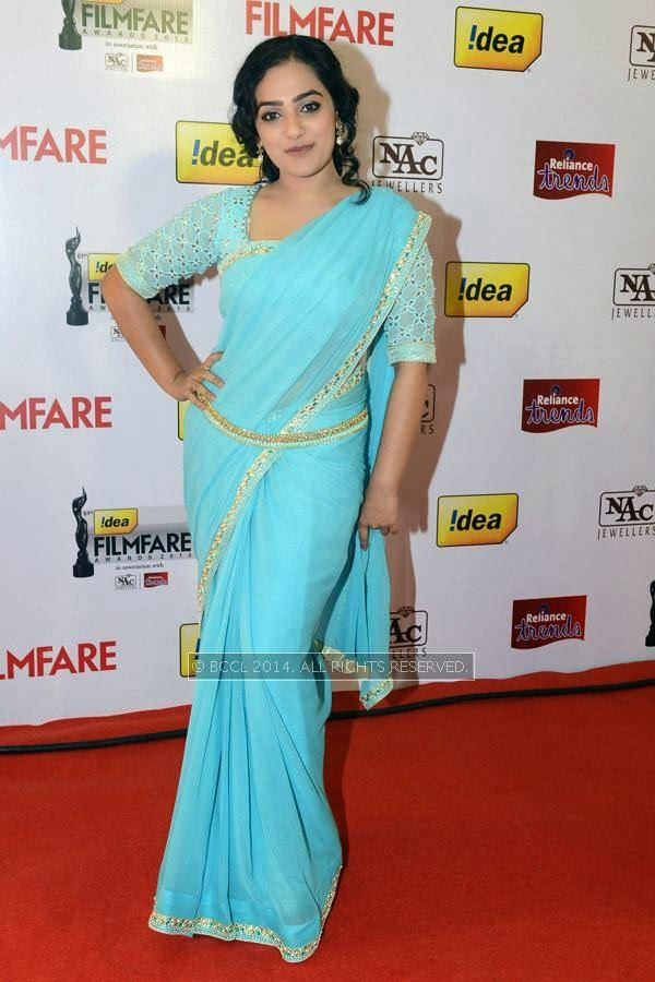 Nithya Menen during the 61st Idea Filmfare Awards South, held at Jawaharlal Nehru Stadium in Chennai, on July 12, 2014.