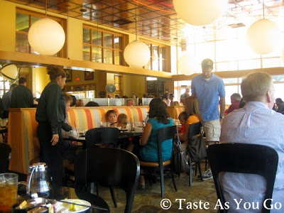 Interior of Corner Cafe in Atlanta, GA - Photo by Michelle Judd of Taste As You Go