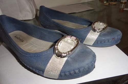 customização de sapatilha com tecido