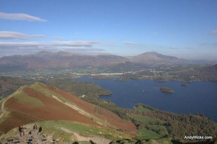 Looking down from near the top of Cat Bells in the Lake District