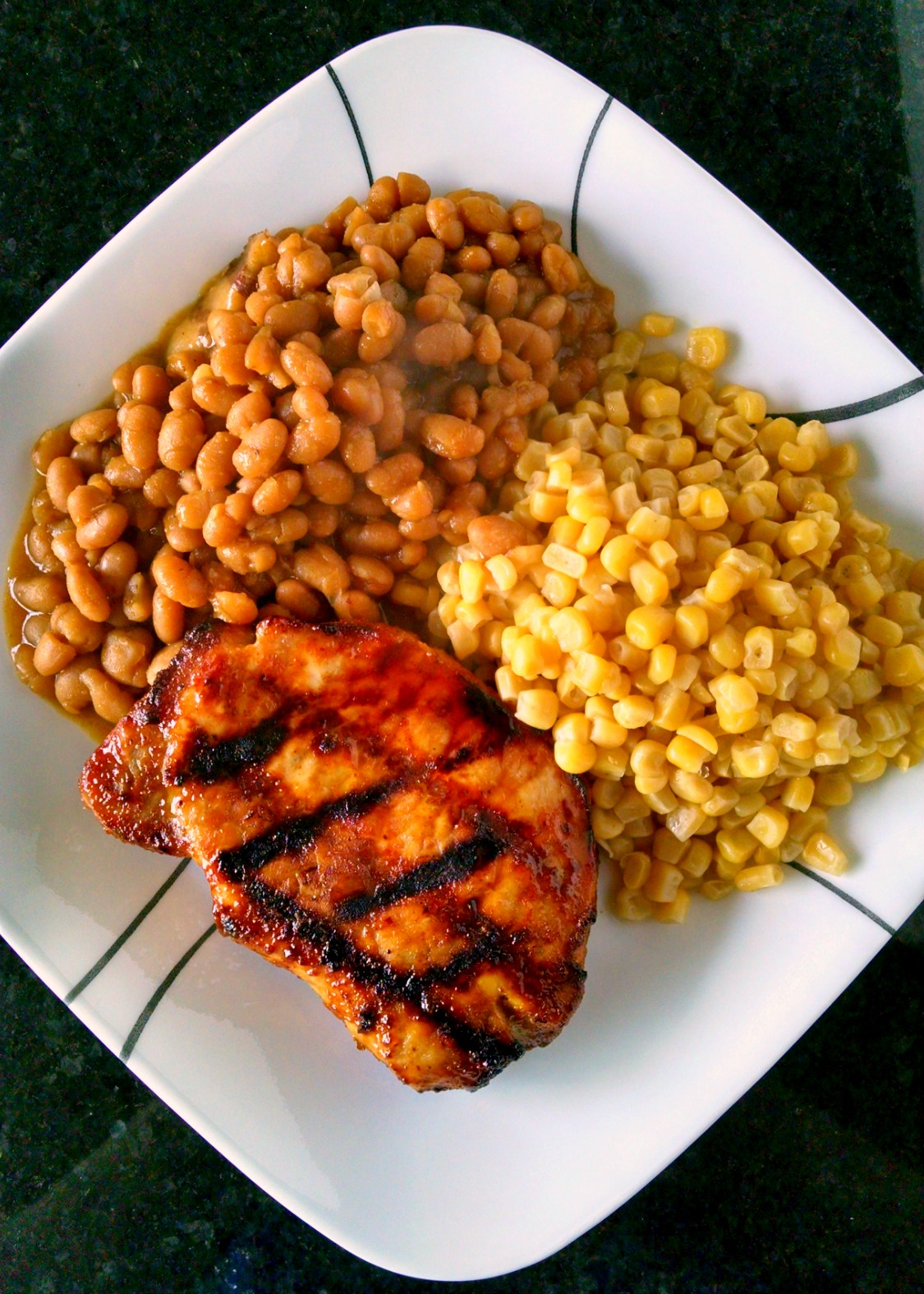 A Kitchen Hoors Adventures | Mustard Barbecue Chops - A twist on traditional barbecue sauce, this one replaces the tomato products with mustard.