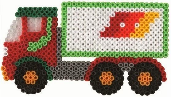 Xe Tải tạo ra từ bộ đồ chơi xếp hình Hama Large Vehicles