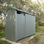 Toilet at Three Mile Dam campsite
