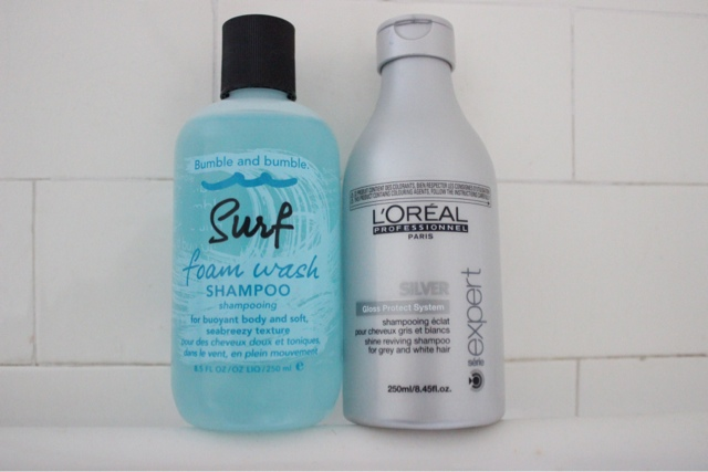 Weekend Shampoos | Bumble & Bumble Foam Wash Shampoo and L'Oreal Professional Serie Expert Silver Shampoo