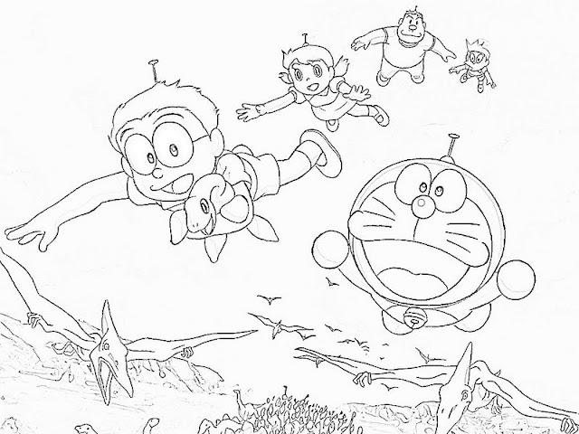Science fiction story of Doraemon 18 Doraemon coloring pages Free ... | 480x640