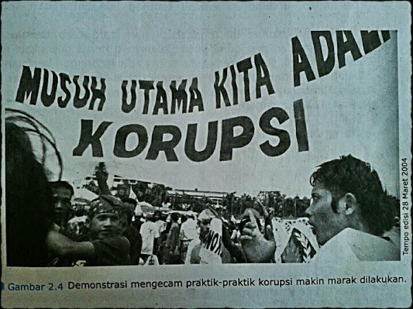 Gambar ilustrasi pengenalan undang-undang anti korupsi di buku SD (Foto Dok. pribadi)
