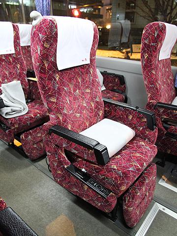 北海道中央バス「高速はこだて号」 2537 シート
