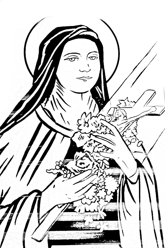 therese of lisieux coloring pages - photo#6