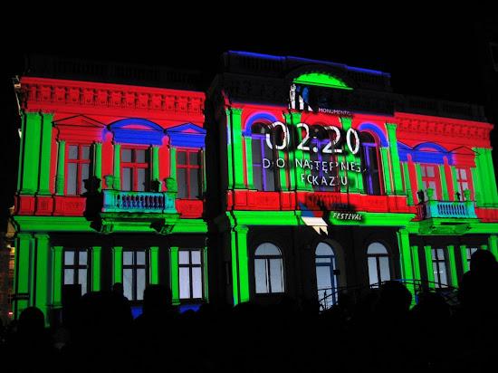 pokazy światła na light move festival łódź