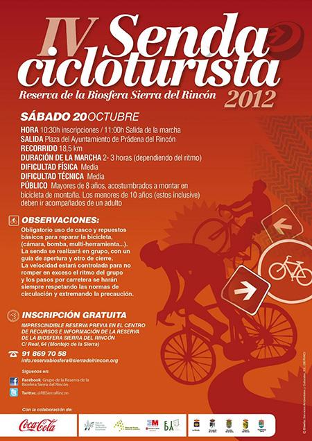 Senda cicloturista Reserva de la Biosfera Sierra del Rincón, sábado 20 de octubre 2012