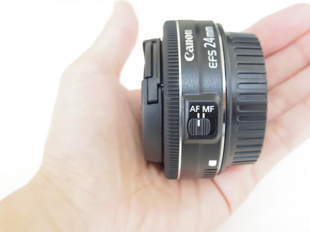 手のひらサイズのEF-S24mm F2.8 STM