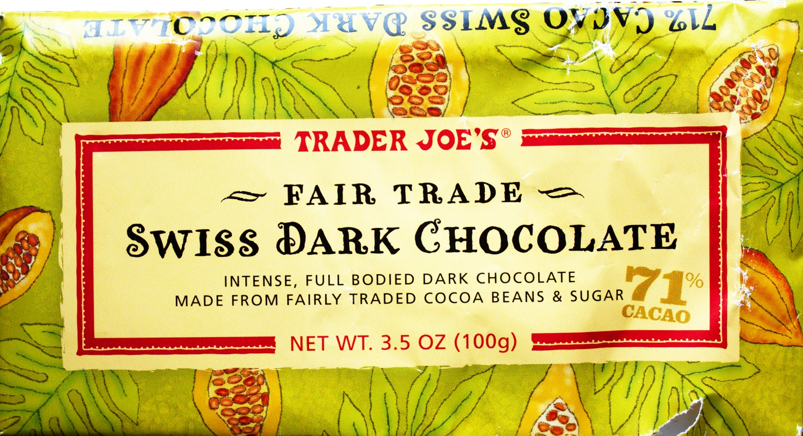 One Golden Ticket: Review: Trader Joe's Fair Trade Swiss Dark ...