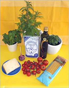 Pasta Primavera – Nudeln Sizilianischer Frühling - Die Zutaten
