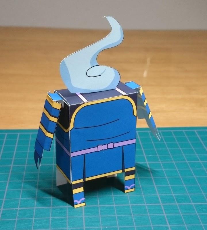 Yokai Watch Yoroi-san Papercraft