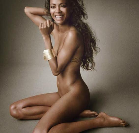 Zoe Saldana, desnuda