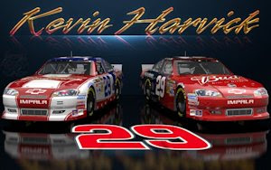 Kevin Harvick Budweiser Wicked Text Wallpaper