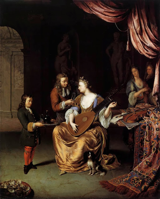 Willem van Mieris - The Lute Player